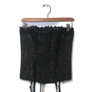 NWOT Grenier black on black corset, size 36